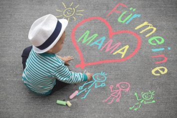 Kinderzeichnung - Fr meine Mama